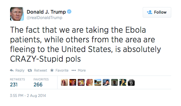 Donald Trump: Ebola-Infected Aid Workers Must Suffer the Consequences