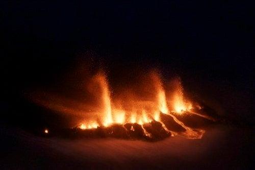 The Icelandic Volcano Eruption in Pictures