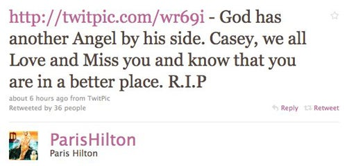 Celebs, Socialites Mourn Loss Of Casey Johnson On Twitter
