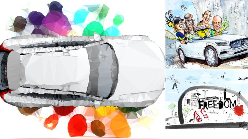 Volvo's Latest Concept Sketches Are An Acid Trip In Car Design Form