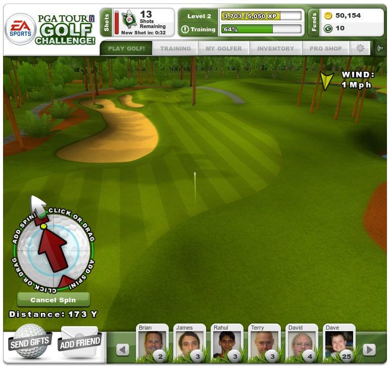PGA Tour Challenge Screenshots