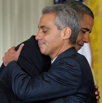 Did Rahm Emanuel and Barack Obama's Hug Deliver Victory to All Terrorists?