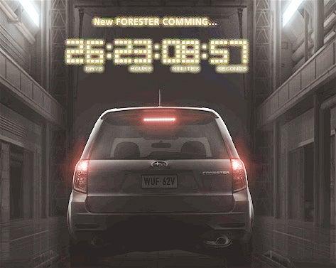 Subaru Launches Forester Mini-Site.. the Final Countdown!