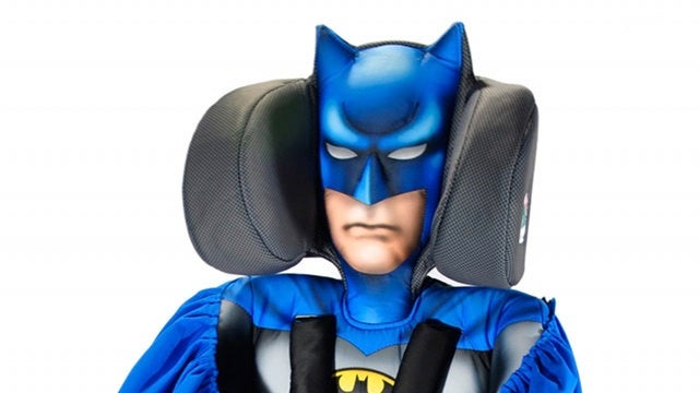 So the Batmobile has a baby seat now, apparently