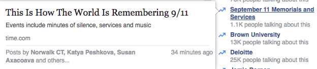 Facebook Stops September 11th Anniversary From Trending Due to Hoax Story