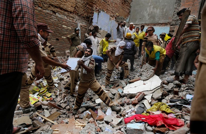 Two Buildings Collapse In India, Killing At Least 11, Trapping Dozens