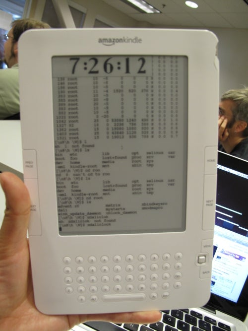 Amazon Kindle 2 Hacked to Run Linux