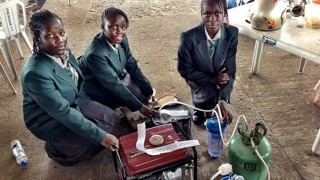 These Teenage Girls from Africa Made a Urine Powered Generator