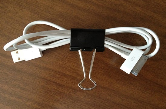 Use Binder Clips to Neatly Wrap Up Cables or Headphones