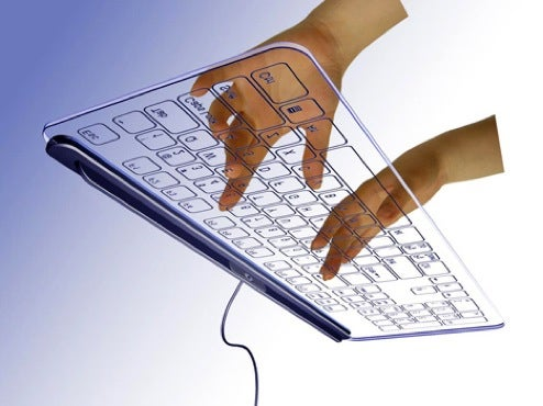 """""""No-Key"""" Glass Touch-Keyboard is Antithesis of Steampunk"""
