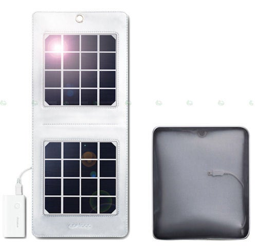 Sanyo Eneloop Solar Charger Powers USB Gadgets