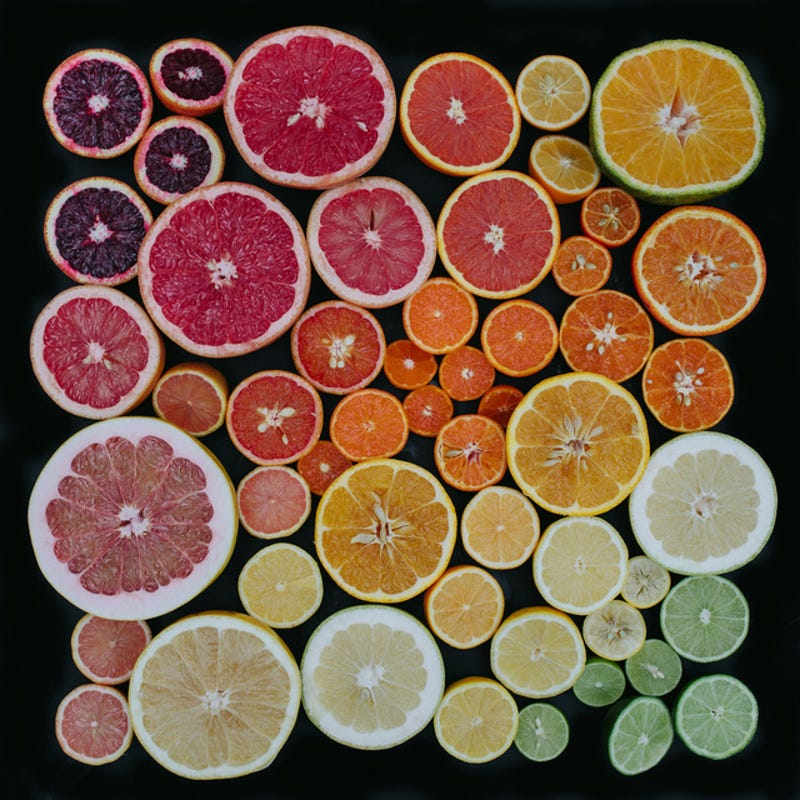 The symmetry of citrus is a beautiful thing