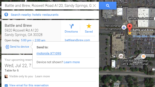 Google Maps Can Now Send Directions From Your Desktop to Android