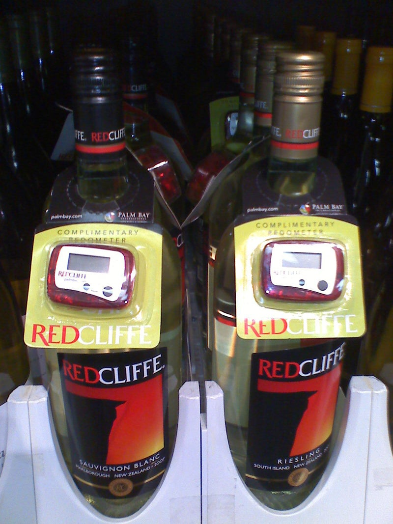 Weird Combo of the Day: Bottle Of Wine With Free Pedometer