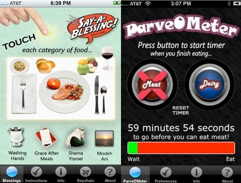 iBlessing and ParveOMeter iPhone Apps Make You a Kosher Keeping Mensch
