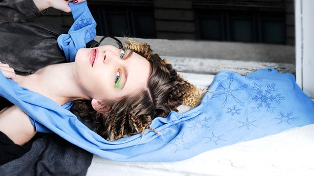 Snowflakes Appear On This Scarf To Tell You What You Already Know—It's Cold Outside