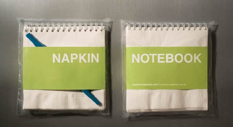 Napkin Notebook: An Idea so Good, It Must Have Been Written on a Napkin