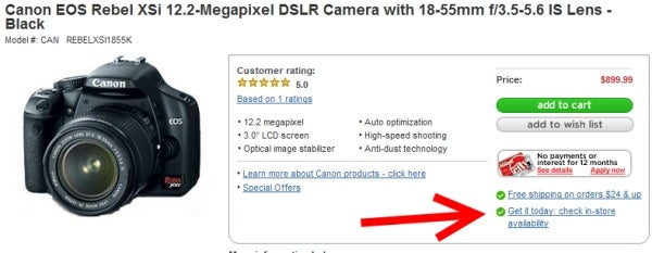 Canon Digital Rebel XSi Available Now at Circuit City