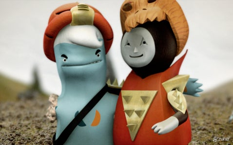 Blue Aliens Face Off with Braveheart Bots in New Animated Short