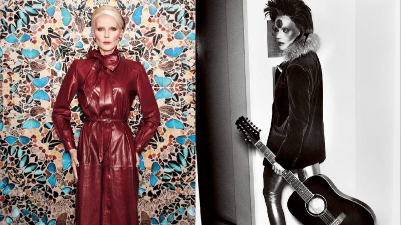 Daphne Guinness Channels David Bowie for Bryan Adams