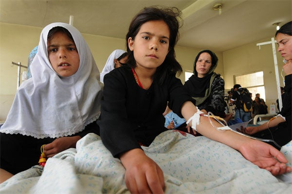 Afghani Schoolgirls Poisoned; Taliban May Be To Blame