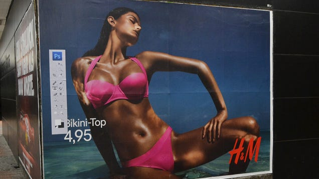 All Models This Photoshopped Should Come With a Toolbar