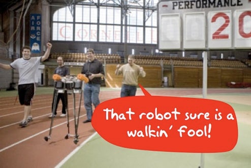 Cornell Ranger Breaks Walking 'Bot Distance Record, Falls Over