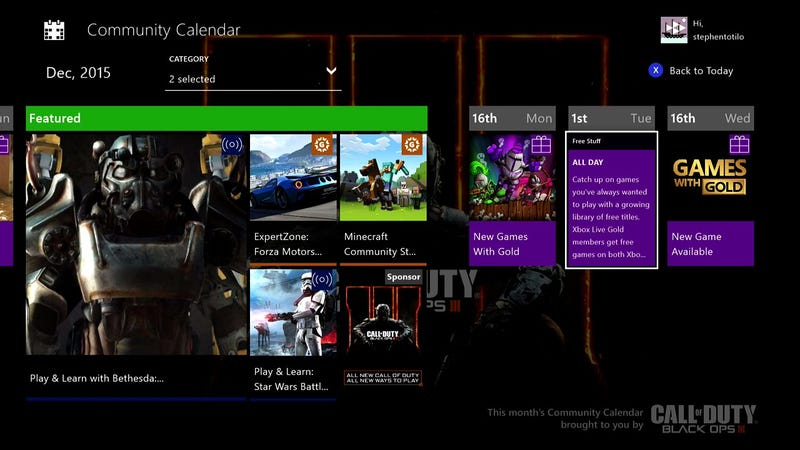 Calendar Illustration Xbox One : The xbox one s new calendar app is surprisingly useful