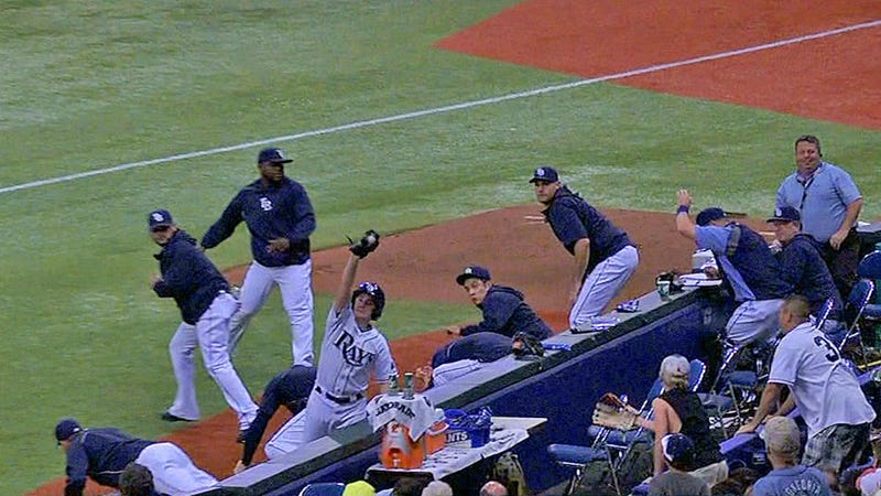 Rays Lose Faith In Ball Boy; Ball Boy Redeems Self With Terrific Catch