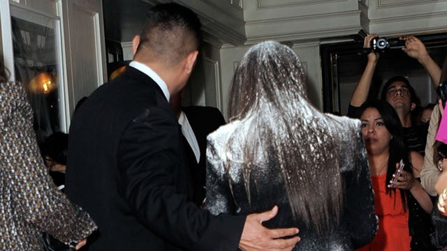 Kim Kardashian: Flour-Bombing Me 'Is Not Acceptable' (UPDATED)