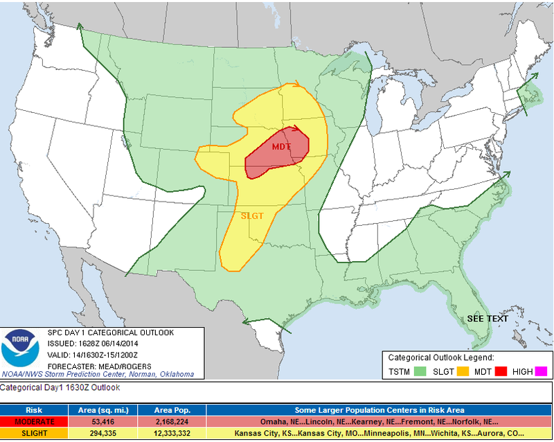 Baseball Size Hail Possible on the Plains Today