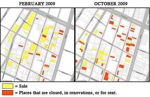 The Recession Map of NoLIta: Updated