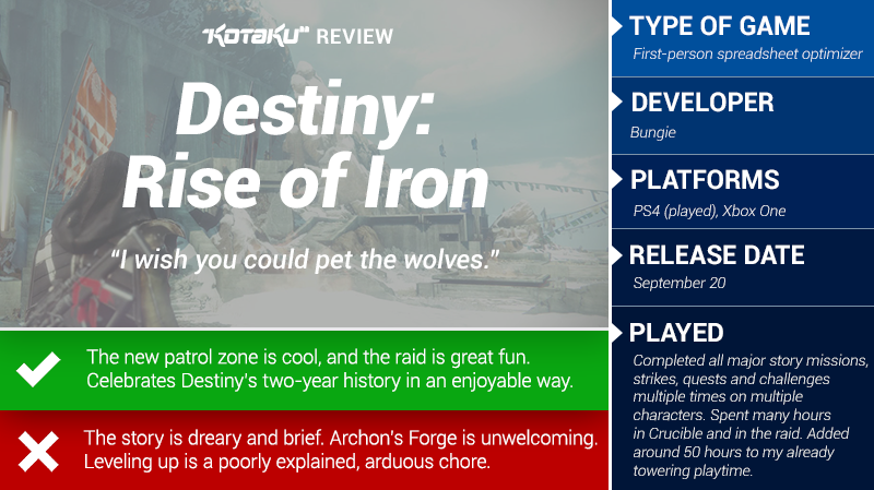 Destiny: Rise of Iron: The Kotaku Review