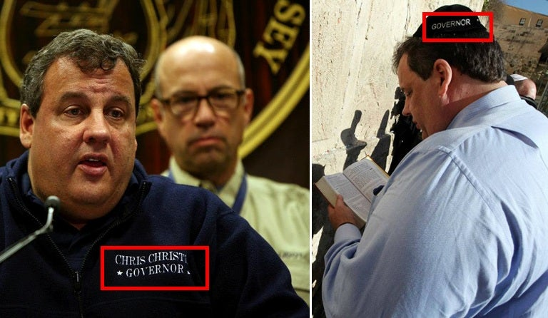 "Has Governor Chris Christie Embroidered ""Chris Christie - Governor"" on Every Item of Clothing He Owns?"
