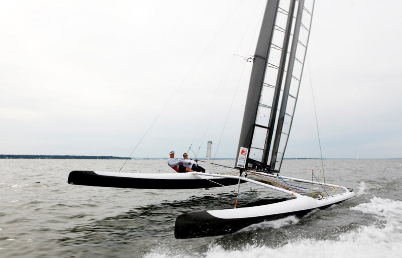The Sailboat Race that Outpaces the Wind