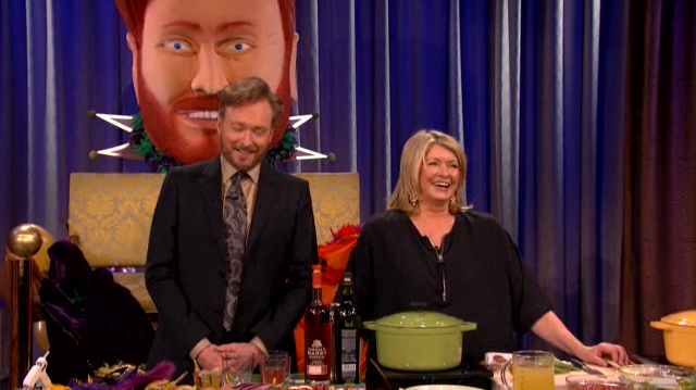"Martha Stewart Tells Conan O'Brien That She's ""Mellowed"""