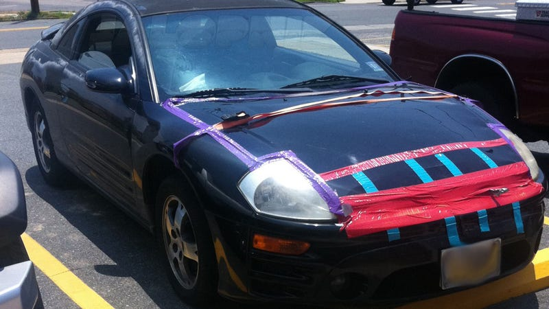 Why we don't use red duct tape for car repair