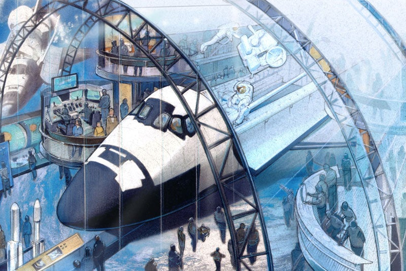 Gorgeous concept art shows the Space Shuttles' final destinations