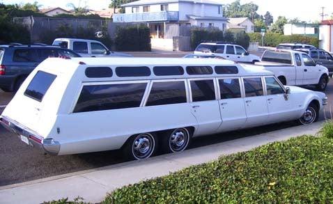 Now That's Class: 6-Wheeled Olds Toronado Limowagon!