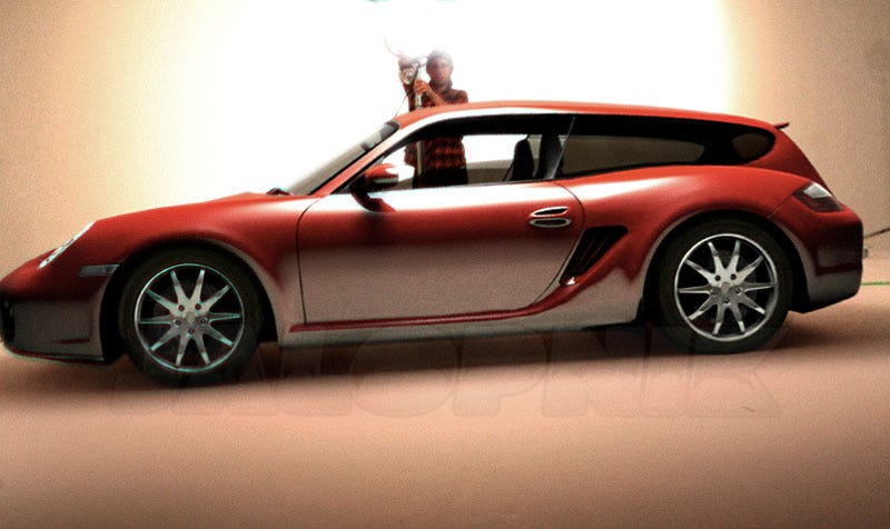 Porsche Cayman Shooting Brake Uncovered?