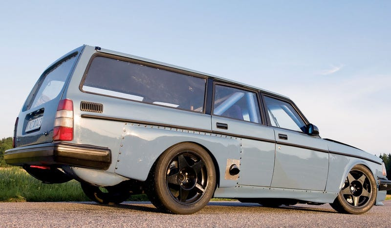 The Gray Sleeper Volvo for Side-Piped Speed Freak Granddads