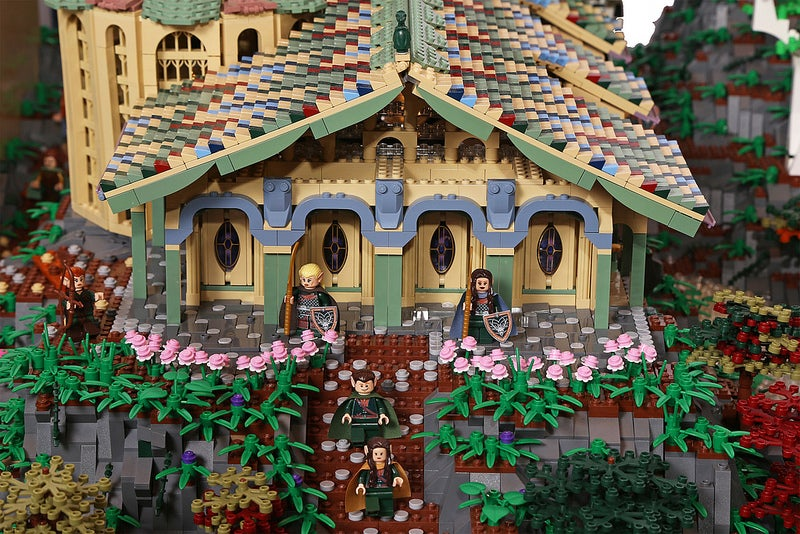 This gigantic amazing Lego recreation of Rivendell will blow your mind