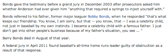 Barry Bonds Has Died, According To This ESPN Typo