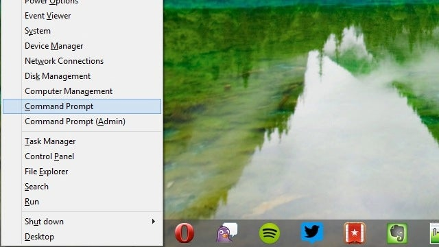 Replace PowerShell with the Command Prompt in Windows 8.1s Win+X Menu