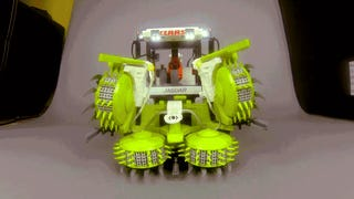 A perfect functioning Lego combine will make you want to be a farmer