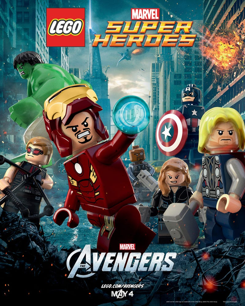 Check Out the Official Lego Avengers Movie Poster
