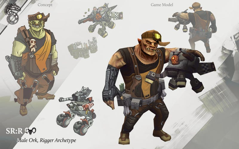A First Look at the Characters and Cityscapes of Shadowrun Returns