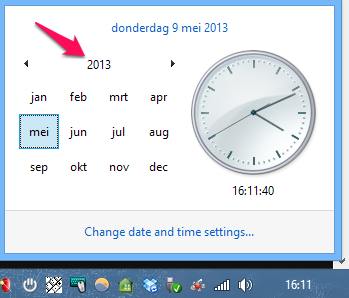 Need to know a specific date's day of the week? Use Windows to find out