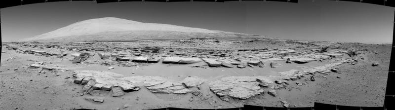 Curiosity's Next Mission Looms Large in New Mars Panorama