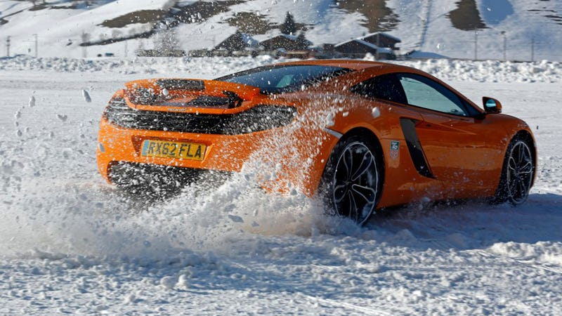 What's Hotter Than A McLaren On Ice?